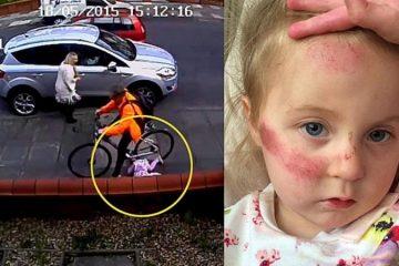 Ce cycliste heurte une fillette de 3 ans, la traîne sur 4 mètres...ce qui se passe ensuite est révoltant, enrageant même !