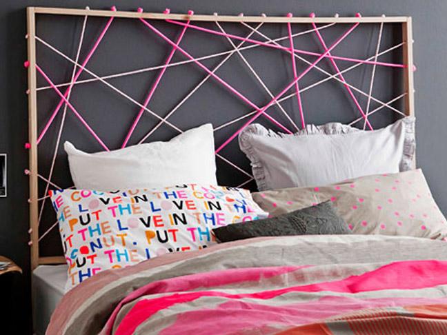 Un cadre et des cordes, c'est tout ce dont vous avez besoin pour cette tête de lit