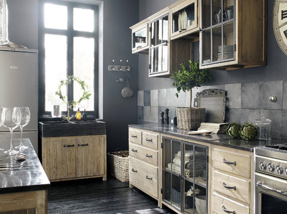 Amazing Une Cuisine Campagne Qui Fait La Part Belle Aux Materiaux Bruts  With Belle Maison De Campagne Moderne