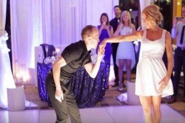 Ce couple ouvre la danse lors de leur mariage sur la chanson thème de Dirty Dancing...MERVEILLEUX !