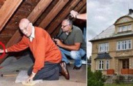 Il retourne dans sa maison d'enfance et tire sur une ficelle qui se trouve dans le grenier…La découverte est !