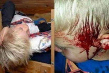 La mère regardait tranquillement la télé quand elle entend des hurlements dans la chambre à coucher de son fils...