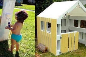 ce papa fabrique une cabane a son fils