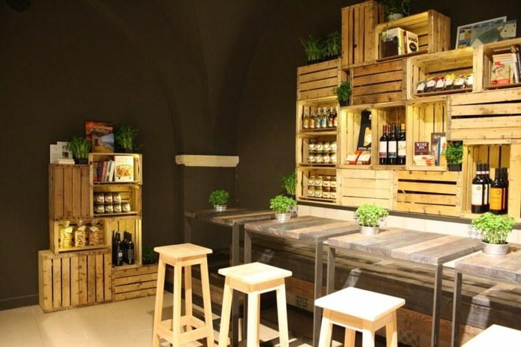 amenagement-interieur-maison-caisse-bois - Cuisine & Santé