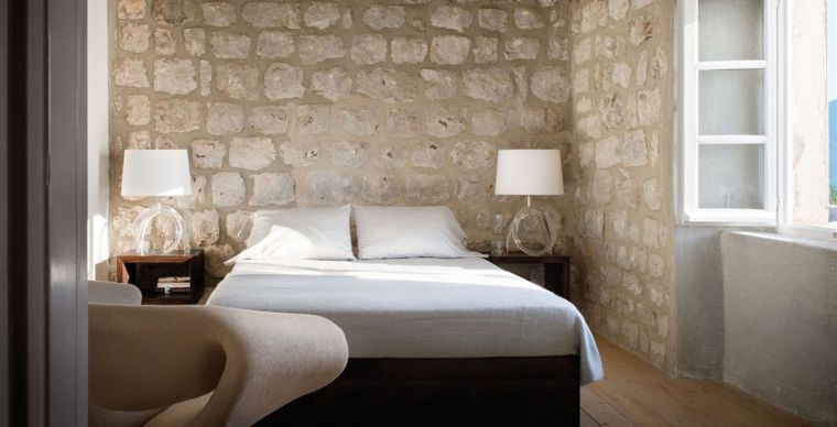 deco-murale-pierre-exposee-style-rustique-chambre-a-coucher ...