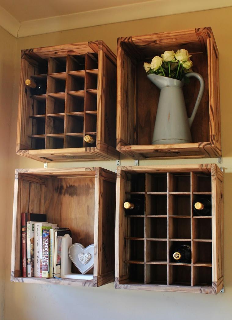 meuble caisse de vin en bois. Black Bedroom Furniture Sets. Home Design Ideas