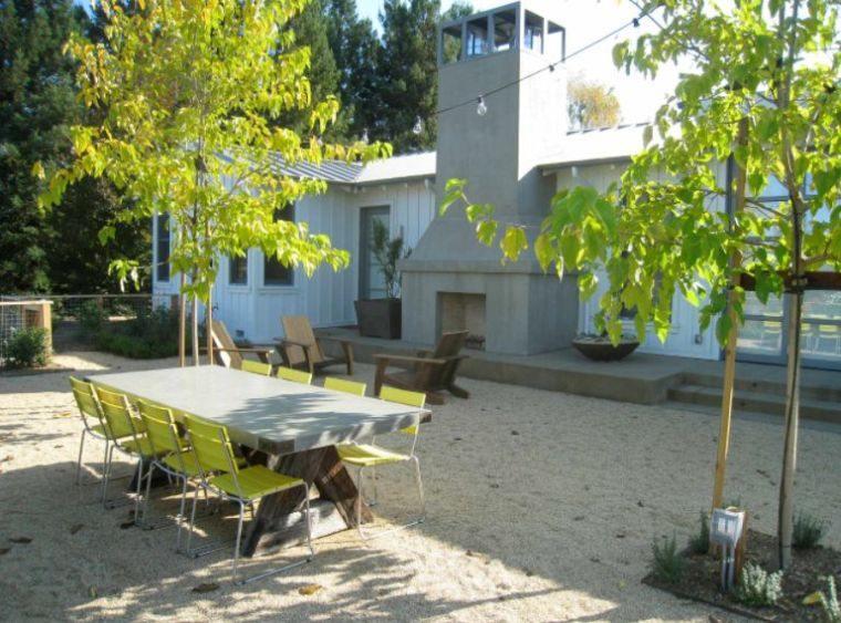 galets-deco-salon-de-jardin-moderne-photos - Cuisine & Santé