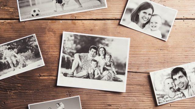 décorer avec des photos de famille