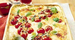 Lasagnes tomates mozzarella et pesto