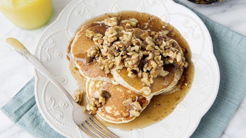 Pancakes à la Sauce d'Erable aux Noix