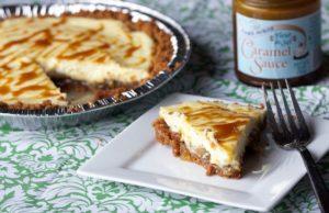 Tarte aux pommes fromage et caramel